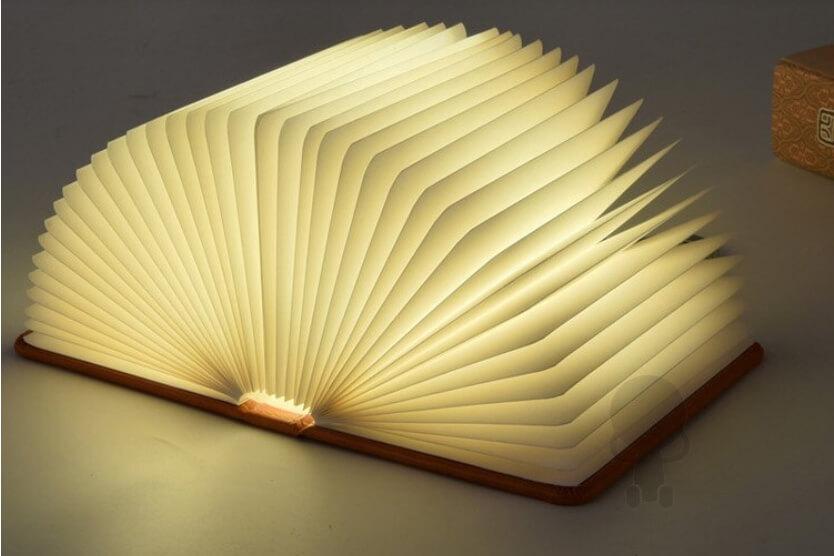 超推薦8款創意小夜燈-木紋折疊書本燈